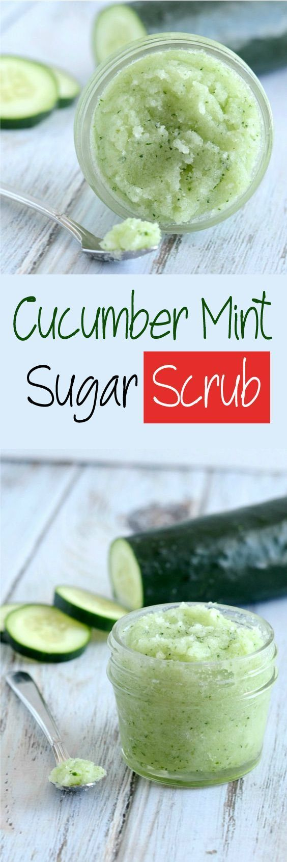 Cucumber Mint Sugar Scrub – Soften up that dry flaky skin with this all natura...