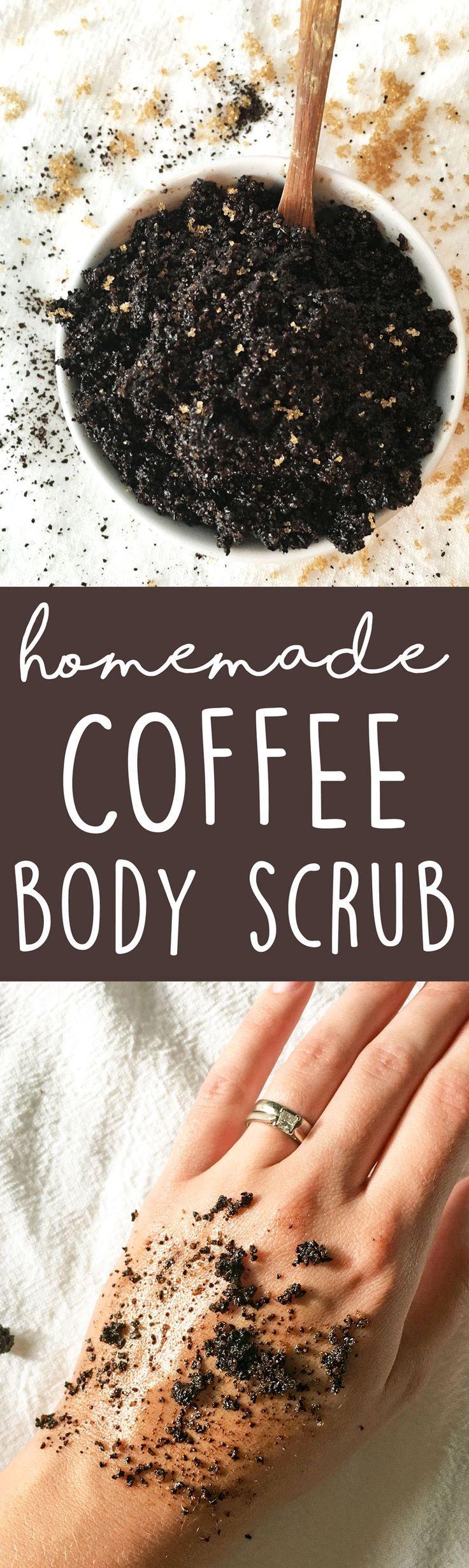 DIY Coffee Body Scrub - this 3-ingredient homemade body scrub recipe is great fo...