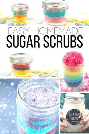 Easy Homemade Sugar Scrub Recipes | Perfect for DIY gifts and a great idea for a...