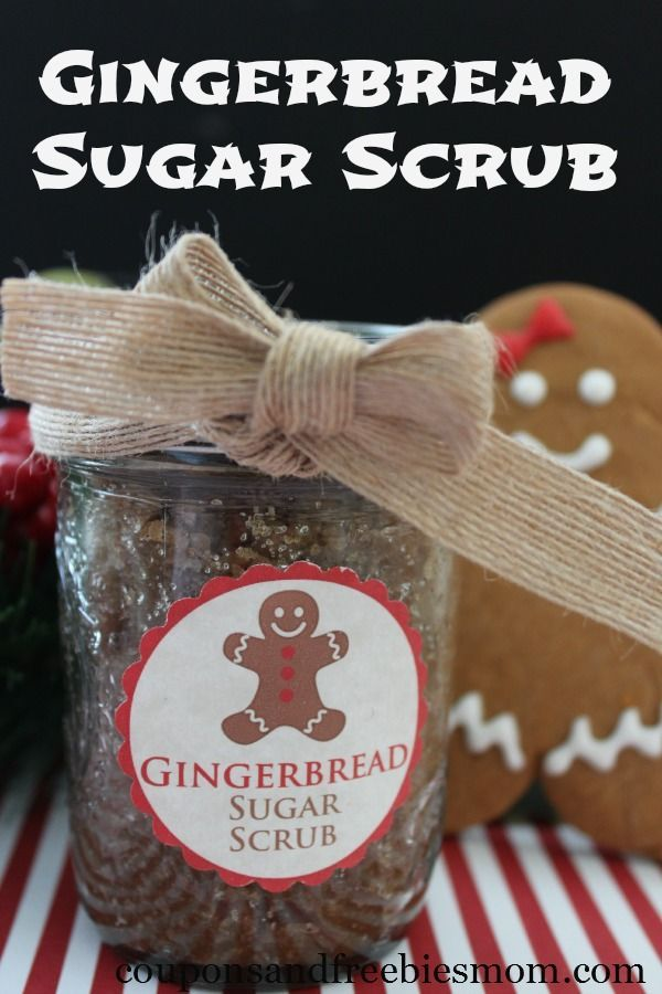 Homemade Gingerbread Sugar Scrub! Easy and inexpensive DIY gift with a wonderful...