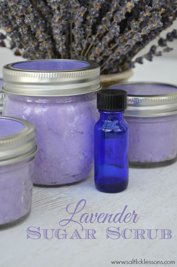 Homemade Mason Jar Gifts are thoughtful, beautiful and easy to make. This lavend...
