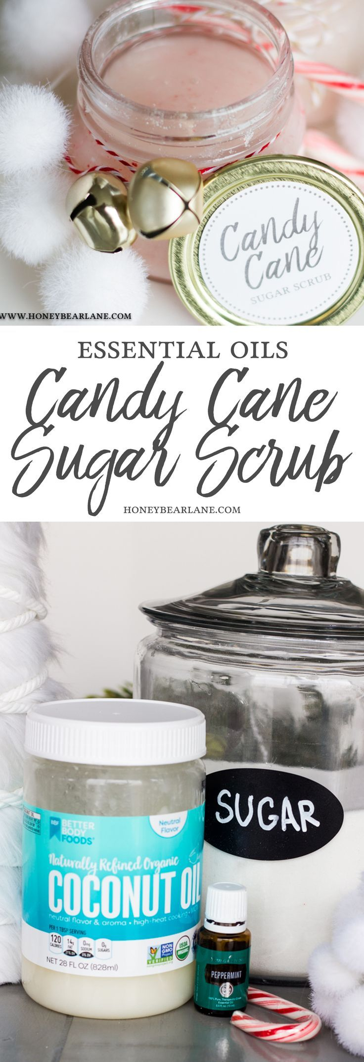 If you love body scrubs, you have to try making them yourself! This candy cane s...