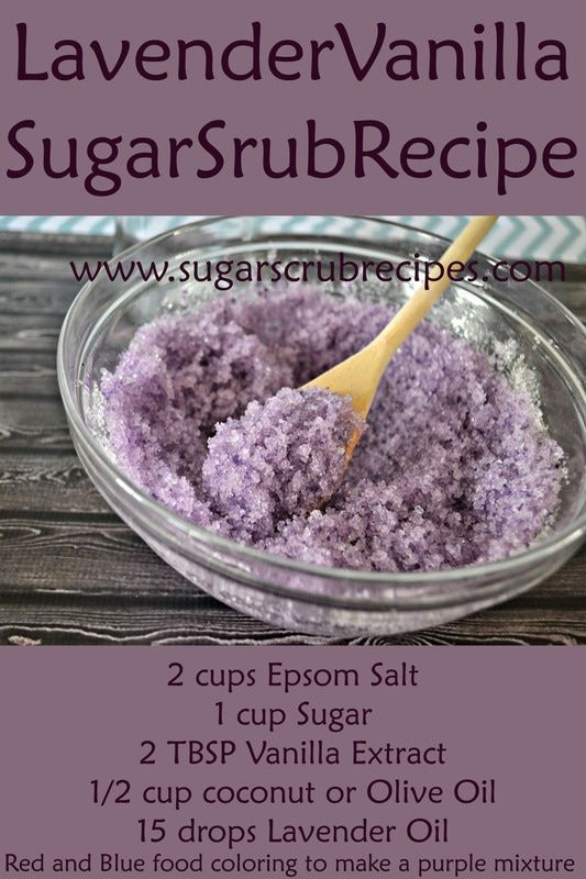 Lavender Vanilla Sugar Scrub Recipe- Diy Body Scrub Take our skin type quiz and ...