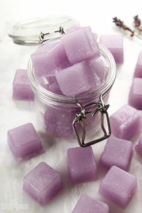 Learn how to make solid sugar scrub cubes using soap, oils and granulated sugar....