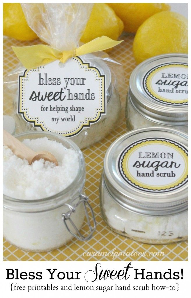 Lemon Sugar Scrub Bless Your Sweet Hands: Lemon Sugar Hand Scrub and {free} Prin...