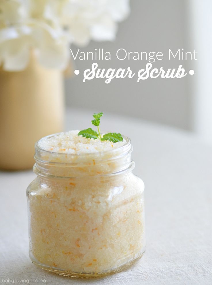 See how easy it is to make this Homemade Vanilla Mint Sugar Scrub for soft skin ...