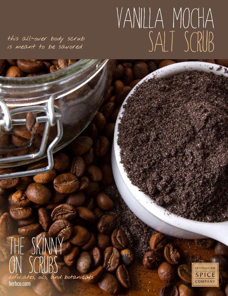 [ Spa Recipe: Vanilla Mocha Salt Scrub ] Made with: Jojoba oil, sea salt, Epsom ...