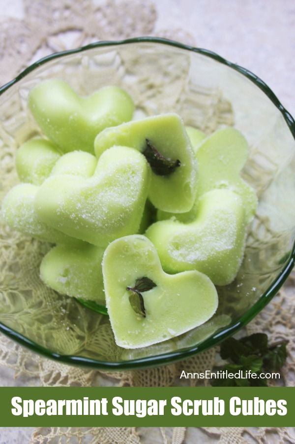 Spearmint Sugar Scrub Cubes. Invigorating Sugar Scrub Cubes made with pure Spear...