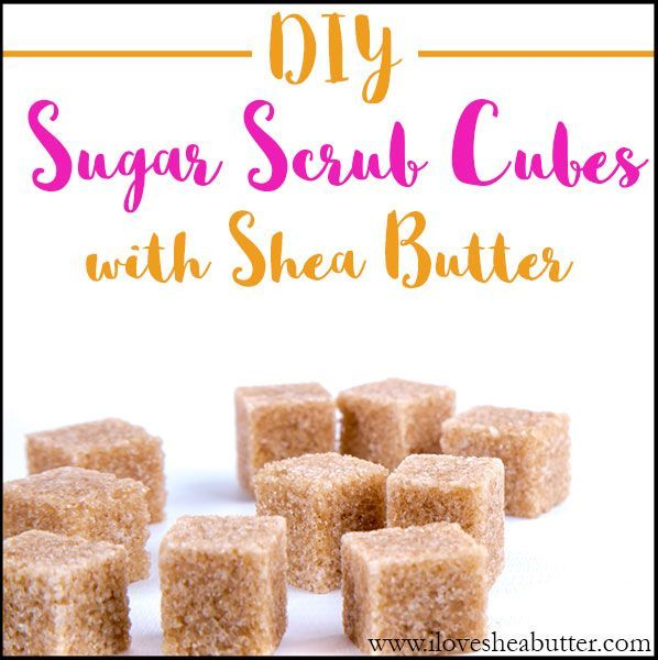 Sugar scrub cubes are amazing! They're like two-in-one body wash and body scru...