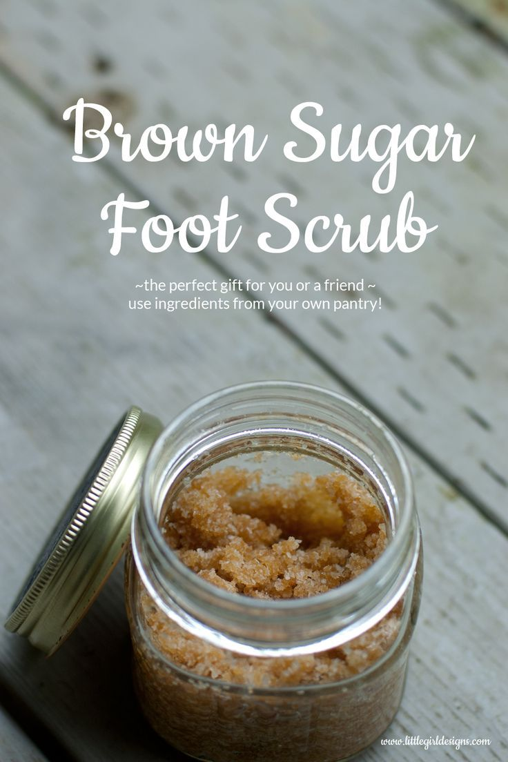This brown sugar foot scrub is perfect for a quick gift for a friend or yourself...