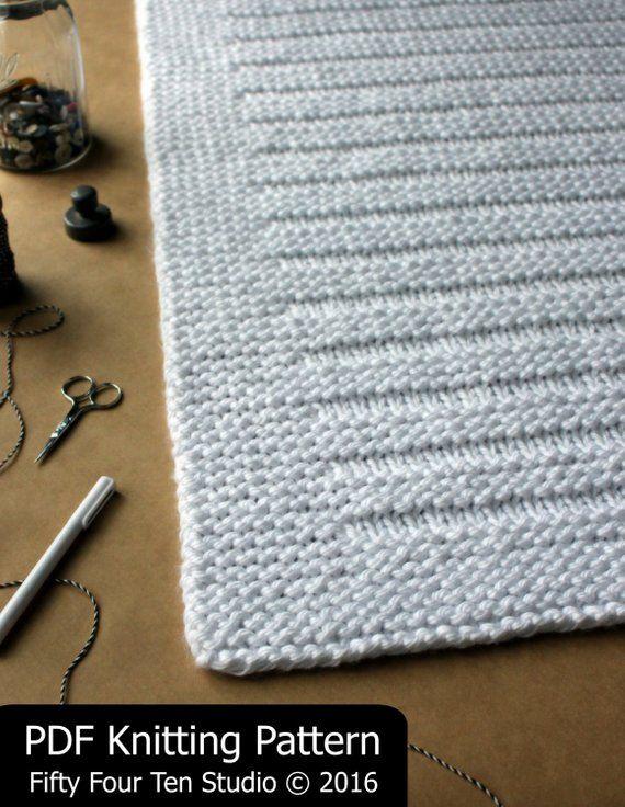 Blanket KNITTING PATTERN / Where the Sidewalk Ends / Throw /