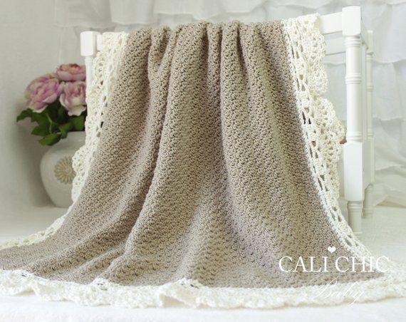 Crochet Baby Blanket PATTERN 144 Claire Elegant Crochet