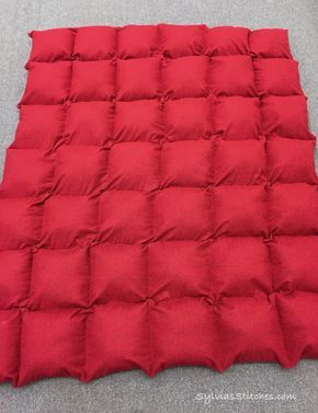 DIY - How to Make Your Own Weighted Throw-Size Blanket for Teen or Adult