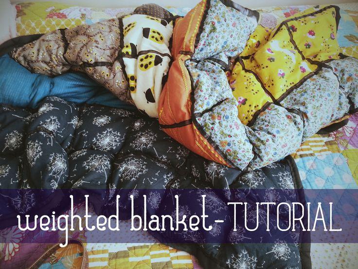 DIY Weighted Blanket! - tutorial I put together  warmwhisper.wix.c... #diy #weig...