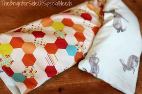 DIY weighted shoulder or lap pad with sewing instructions for autism, ADHD, Alzh...