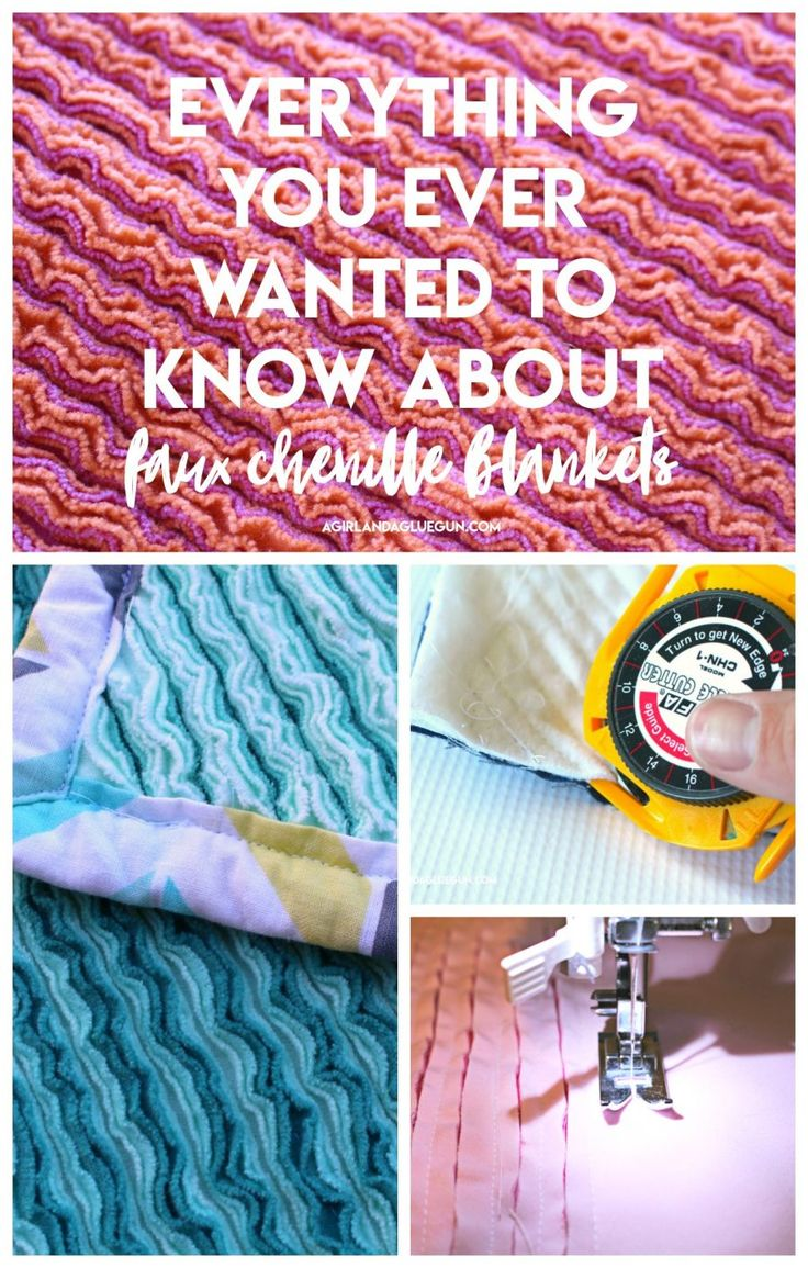 How to make a faux chenille blanket - A girl and a glue gun