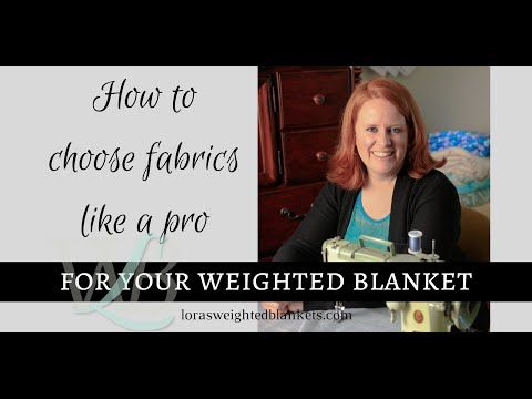 No-Sew Weighted Blanket Part 1 of.2 - YouTube