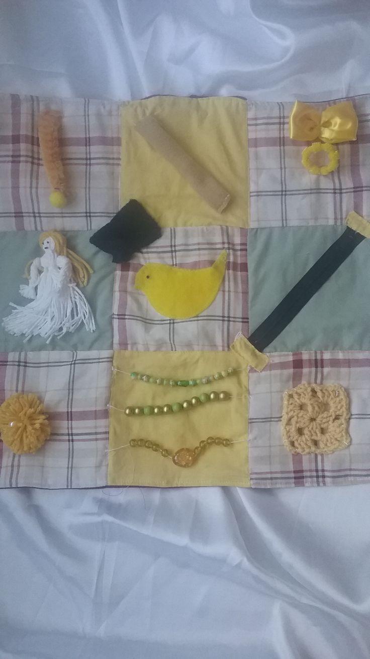 Sensory Blanket, Sensory Quilt, Alzheimer Quilt, Dementia Blanket, Fidget Quilt....