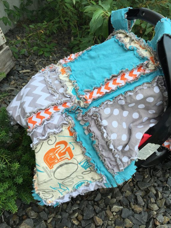 This blanket for a car seat canopy is so easy to sew and a great blanket for the...