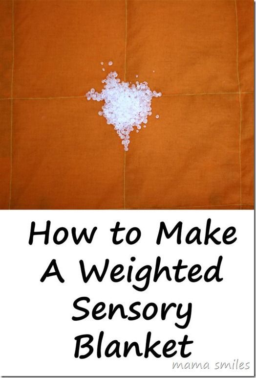 Tutorial for how to sew a weighted sensory blanket. LOVE the step-by-step illust...