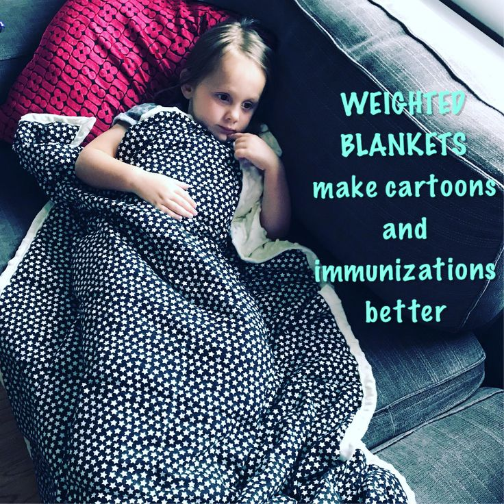 Weighted sensory blankets are a tool used in deep pressure therapy. The weight f...