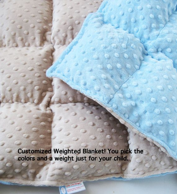 Weighted toddler blanket. Maddy has one of these for now. Saving tutorials for l...