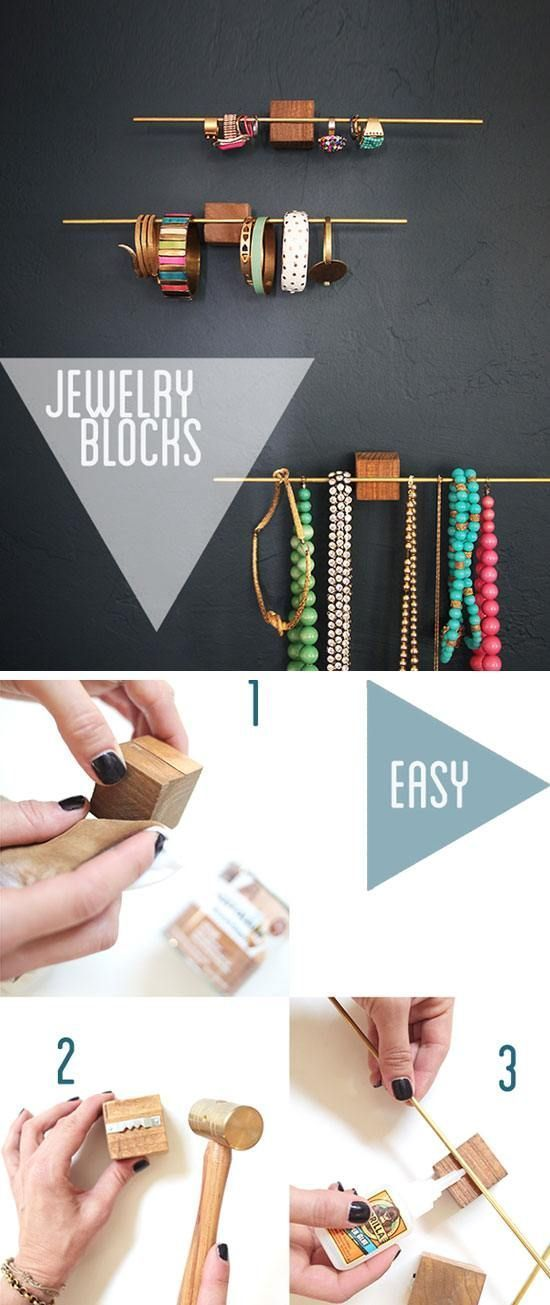 Easy $10 Jewelry Display Organizers | 23 Life Hacks Every Girl Should Know | Eas...