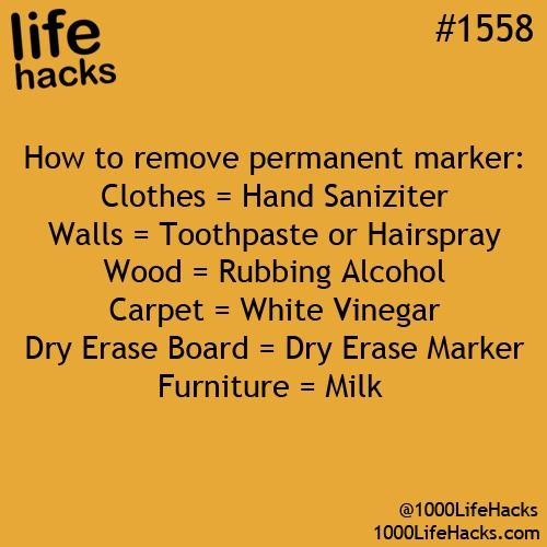 How To Get Permanent Marker Out #Fashion #Beauty #Trusper #Tip