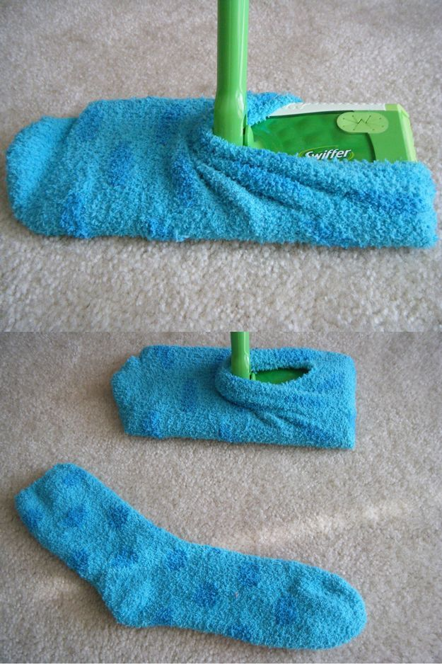 Life Hacks You Need To Know | How To Clean With A Swiffer & A Sock By DIY Ready....