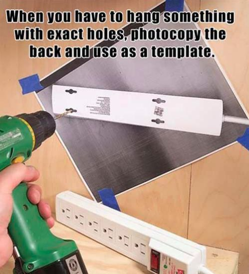 Life hacks - how to hang an item on the wall with perfect measurements
