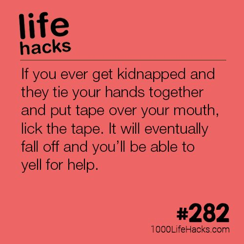 The post Kidnap Hack appeared first on 1000 Life Hacks.