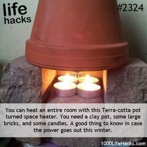Wow... Power outage in the cold of winter? You never know when you might need a ...