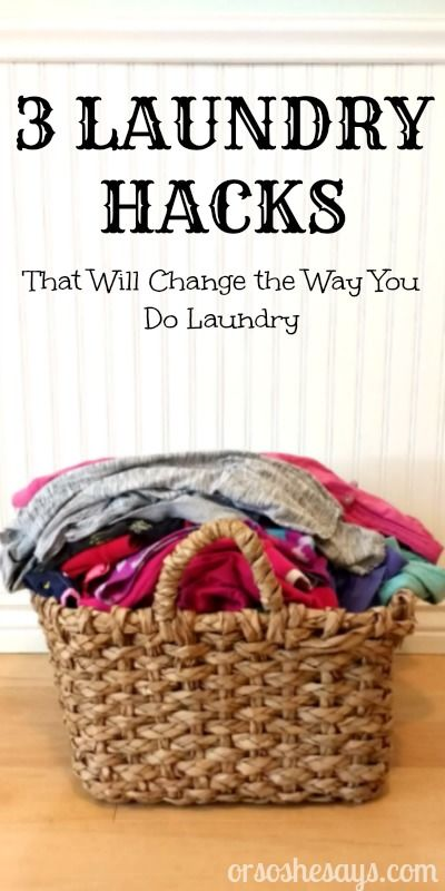 3 Laundry Hacks that will Change the Way You Do Laundry (she: Elise)