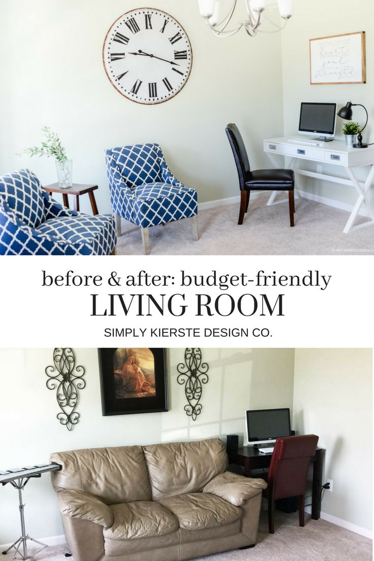 Before & After- Budget Friendly Living Room Makeover | Budget-Friendly Living Ro...
