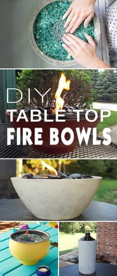 Check out these wonderful table top fire bowl projects! Easy.... and they look g...