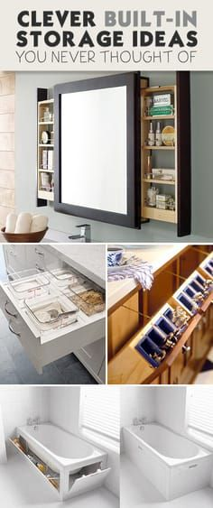 Clever Built-In Storage Ideas You Never Thought Of! • Some really good ideas h...
