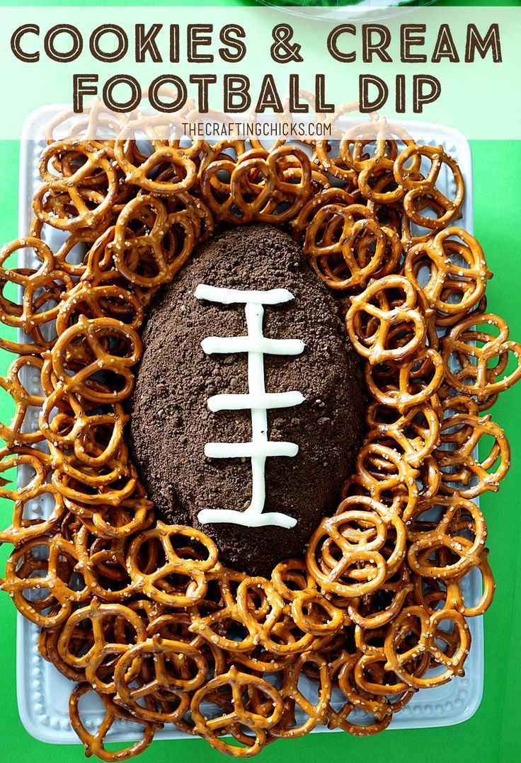 Cookies and Cream Football Dip Recipe. Sweet Superbowl treat. Can be served with...