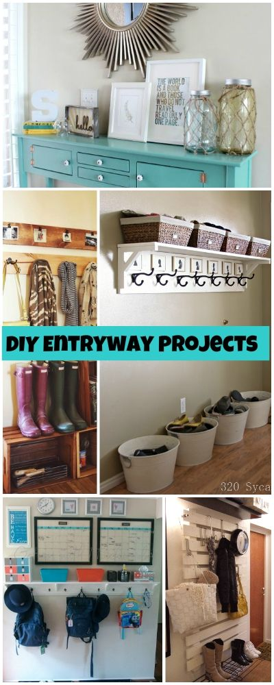 DIY Entryway Projects • Budget projects and tutorials on creating an organized...