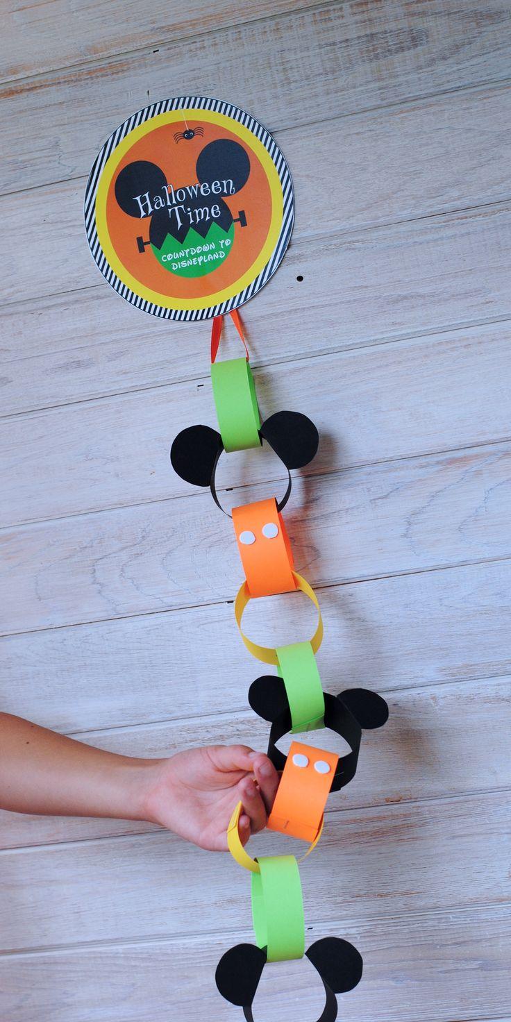 DIY Halloween Countdown for Disneyland