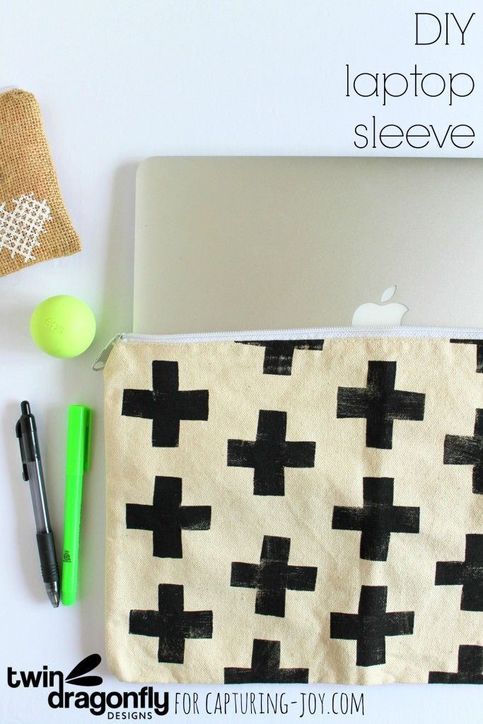 DIY Laptop Sleeve. How to sew a cute laptop cover! www.kristenduke.com #sewingtu...