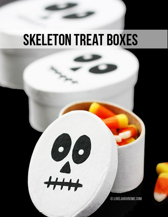 DIY Skeleton Treat Boxes. Fun Halloween Crafts