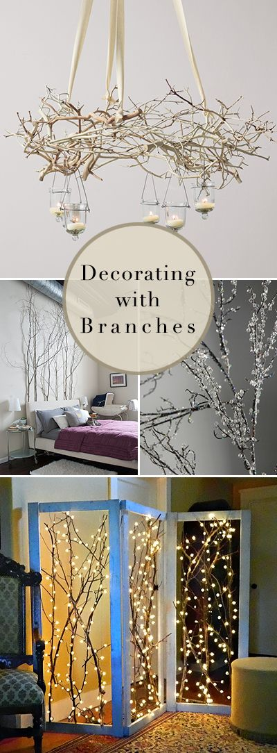 Decorating with Branches • Lots of Ideas, DIY Projects & Tutorials! Love the r...