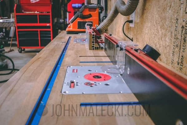 Double Router Table from IKEA Butcher Block Counter