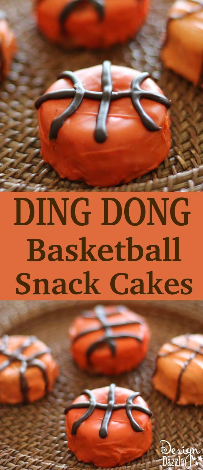 Easy Basketball Snack Cakes Made With Ding Dongs. Cute party idea for a absketba...