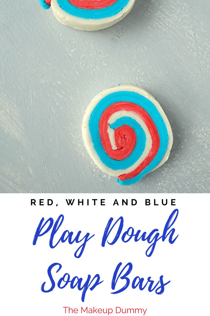 Easy and fun activity to play with kids! Make your own Play Dough Soap Bars! Gre...
