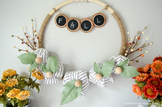 Fall decor is always fun to get a start on. Yes, its still hot, but here is desi...