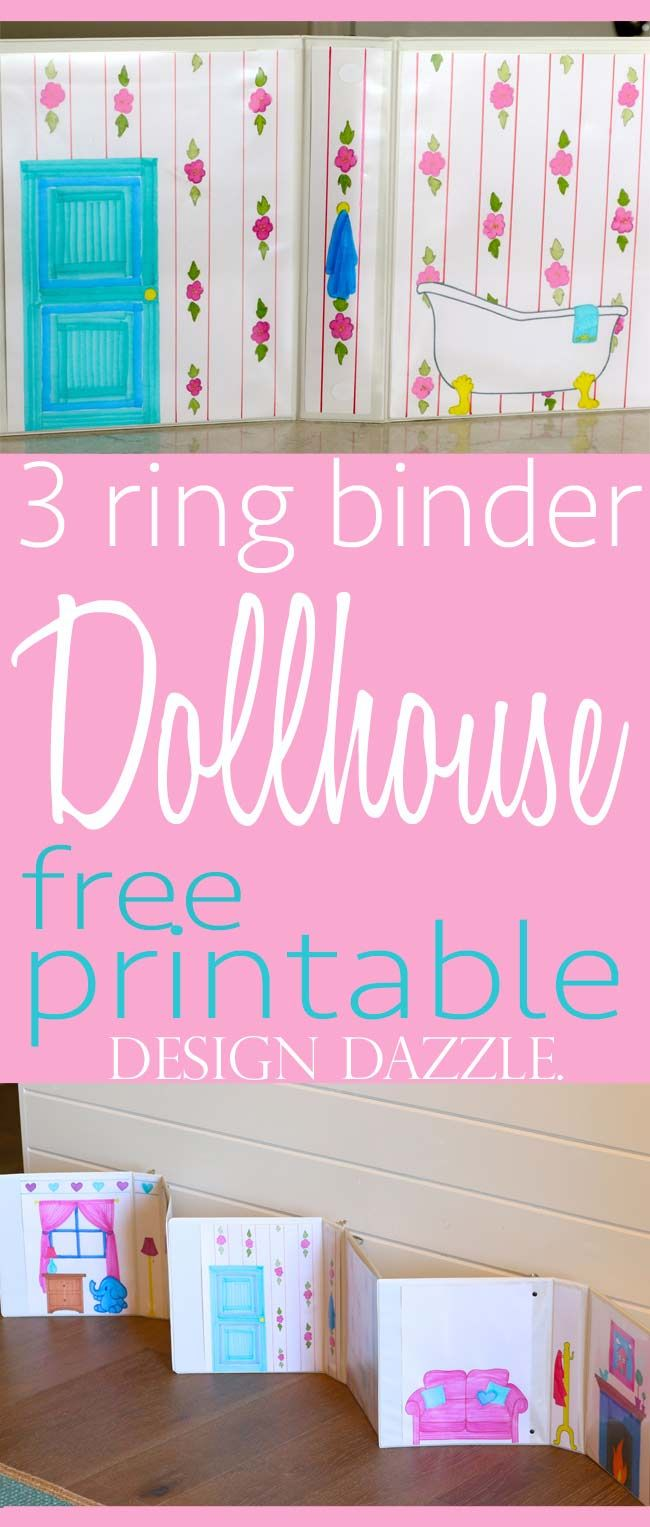 Diy Crafts Free Printables For 3 Ring Binder Dollhouse Easy