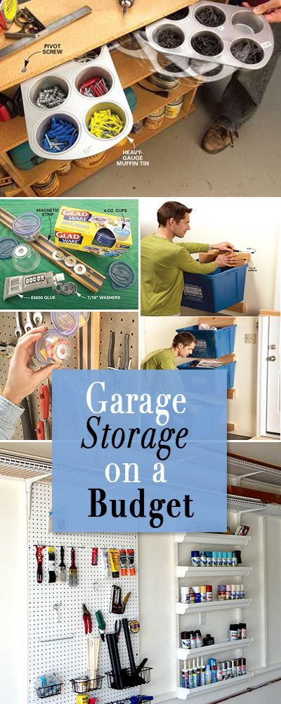 Garage Storage on a Budget • Lot's of projects and ideas to keep your garage o...