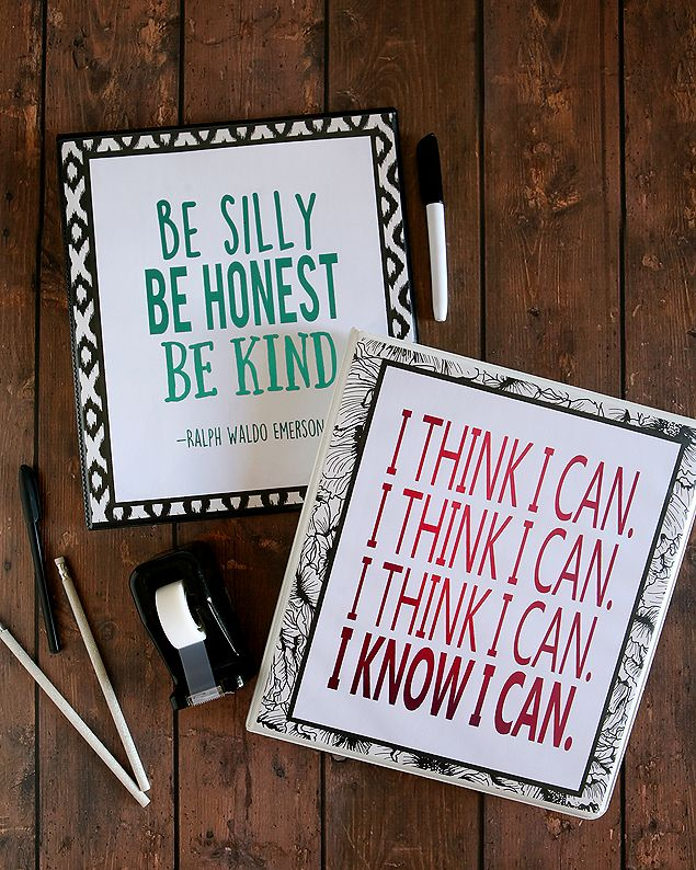 Inspirational School Binder Printables | Free printables that can slip right in ...