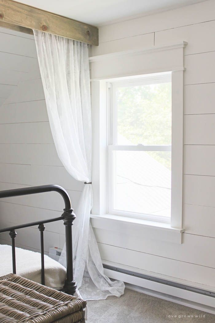 Learn how to bulk up the trim around your windows for a beautiful farmhouse look...